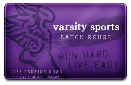 Varsity Sports Baton Rouge Physical Gift Card